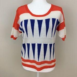 Twiggy of London Short Sleeve Sweater Medium